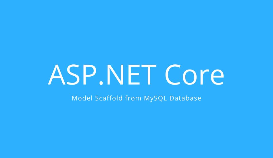 Asp.net Core MySQL Scaffold