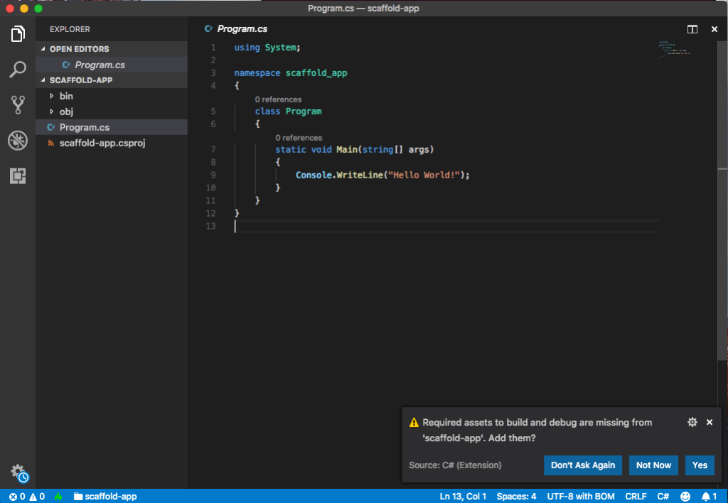VS Code Prompt Example